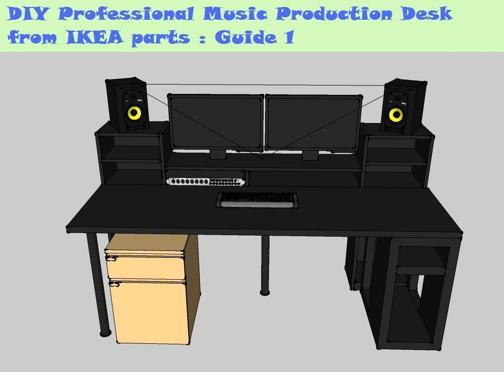 Guide Diy Music Production Desk From Ikea Parts Build 1 Music Desk Home Studio Music Studio Diy