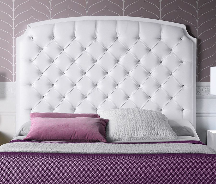 Cabecero de cama tapizado capitoné - pino | Pinterest | Cabezal de ...