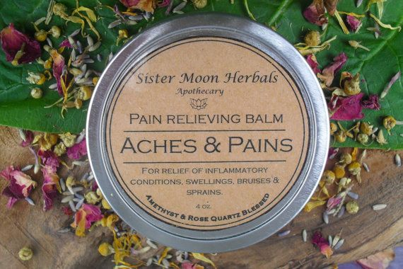 Aches & Pains Balm  Pain Relieving Balm by SisterMoonHerbals