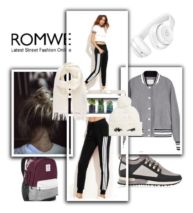 """BLACK ROMWE PANTS CONTEST !"" by jasmine-monro ❤ liked on Polyvore featuring Beats by Dr. Dre, Victoria's Secret, Vivienne Westwood and Kate Spade"