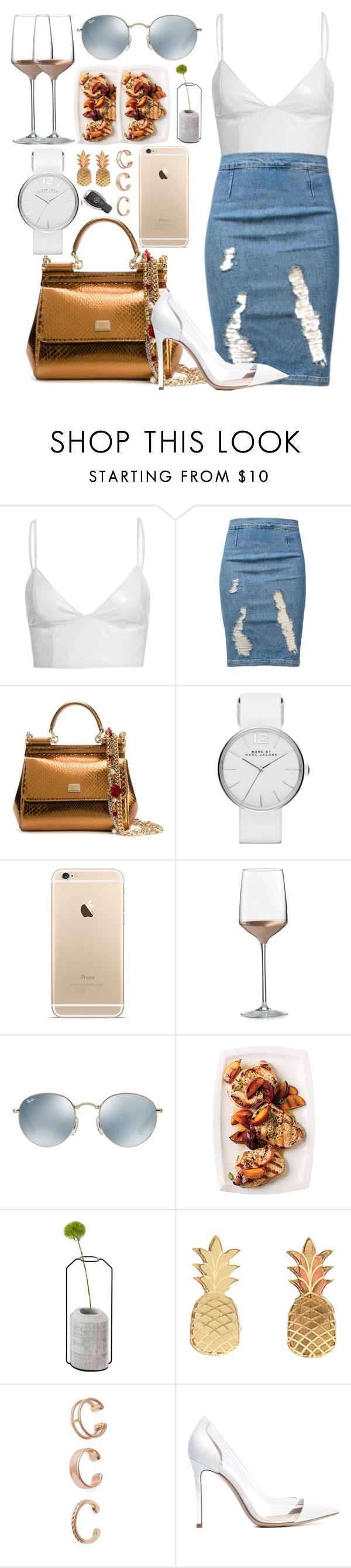 """""""*1161"""" by asoc10 ❤ liked on Polyvore featuring Frame Denim, Dolce&Gabbana, Marc by Marc Jacobs, Wedgwood, Ray-Ban, Spécimen Editions, Vinca, Kendra Scott, Gianvito Rossi and FamilyDay"""