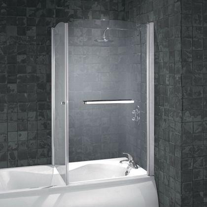 Aqualux Over Bath Shower Screen 850mm Homebase Shower Bath Bath Shower Doors Bath Shower Screens