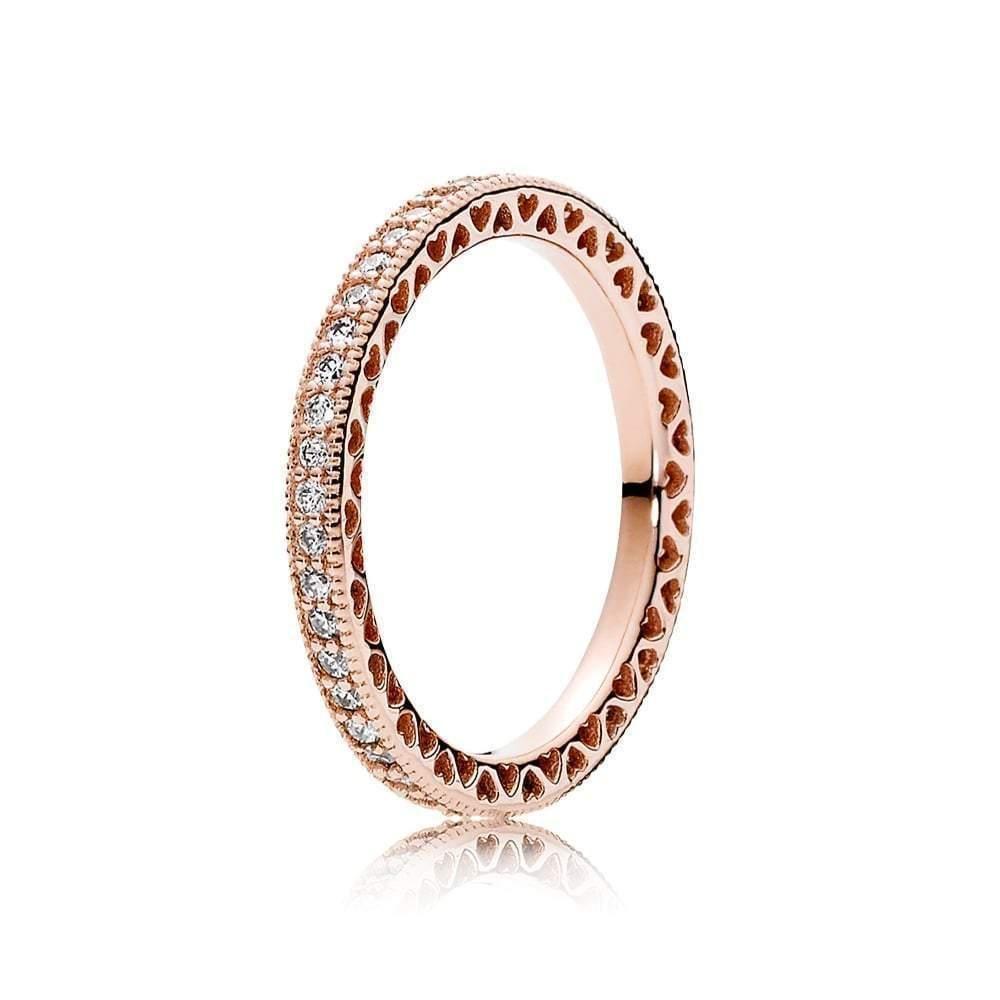 180963CZ Rose Hearts of PANDORA Ring -   - #180963CZ #cuteweddingdress #Hearts #pandora #pandoracharms #pandorarings #Ring #rose #weddingbride