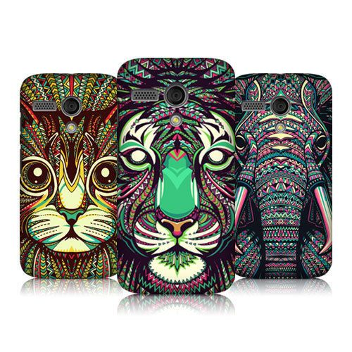 HEAD CASE DESIGNS ANIMAL FACES SERIES 2 HARD BACK CASE COVER FOR MOTOROLA MOTO G