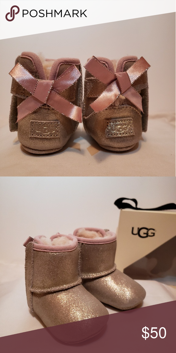 9df489e31b8 Baby Uggs Jesse Bow Metallic Ugg boots UGG Shoes Boots | My Posh ...