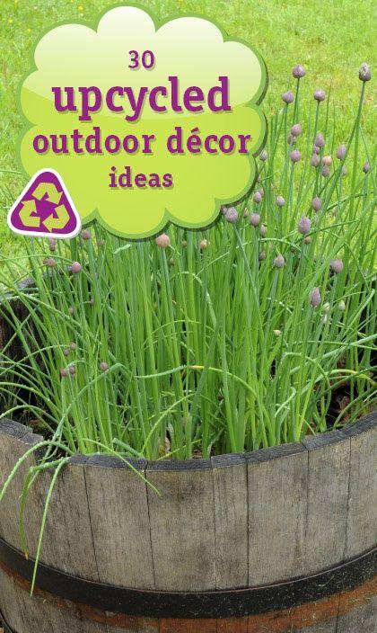 Upcycled outdoor decor idea box by deb homewardfounddecor for Upcycled yard decor