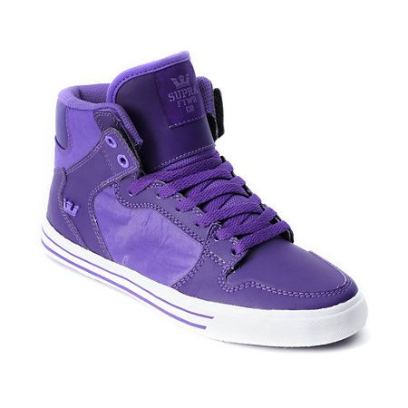 3290d83c39 Supra Womens Vaider Purple High Top Shoe Sapatos