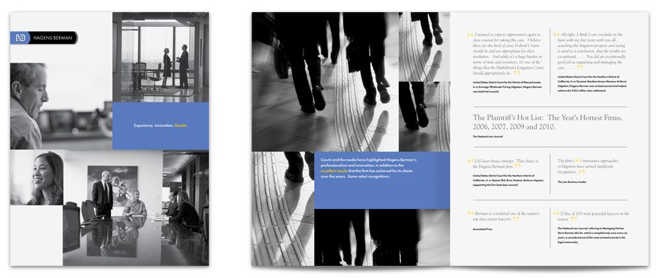 Elegant Law Firm Brochure Design