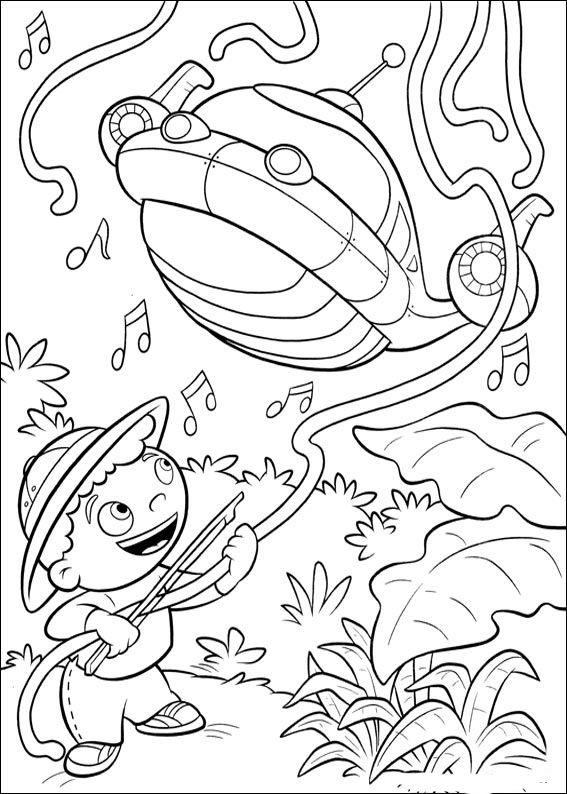 Dibujos para Colorear Mini Einsteins 33 | LITTLE EINSTEIN PARA ...