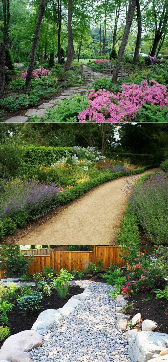 25 Most Beautiful DIY Garden Path Ideas | Garden paths, Walkways and ...