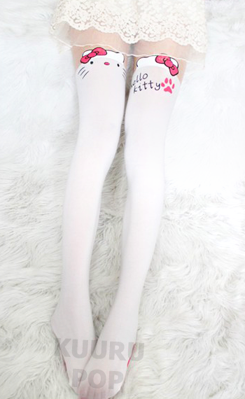 edecb938741 Hello Kitty Tights One of the hottest Japanese fashion accessories around  right now