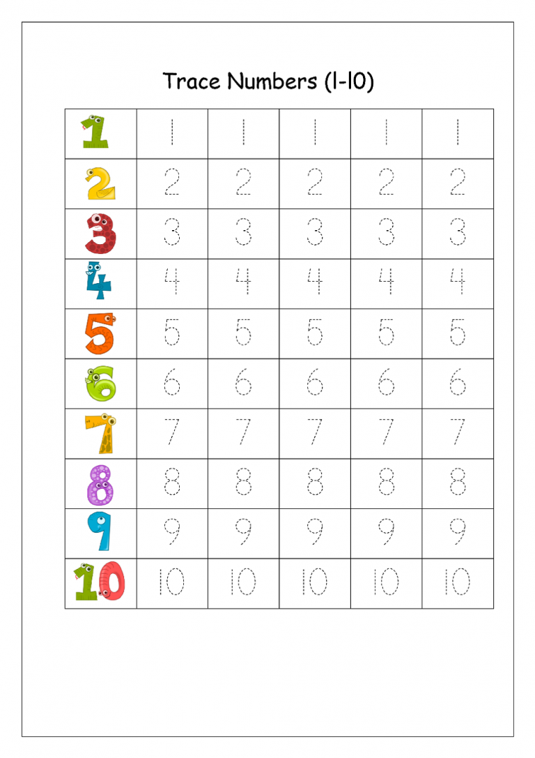 Writing Numbers Worksheet Writing numbers kindergarten