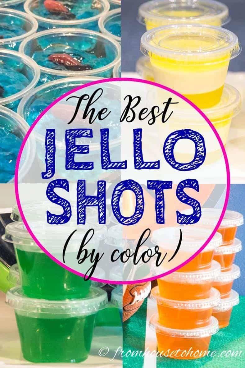 The Best Jello Shots (by color) #jelloshotrecipes