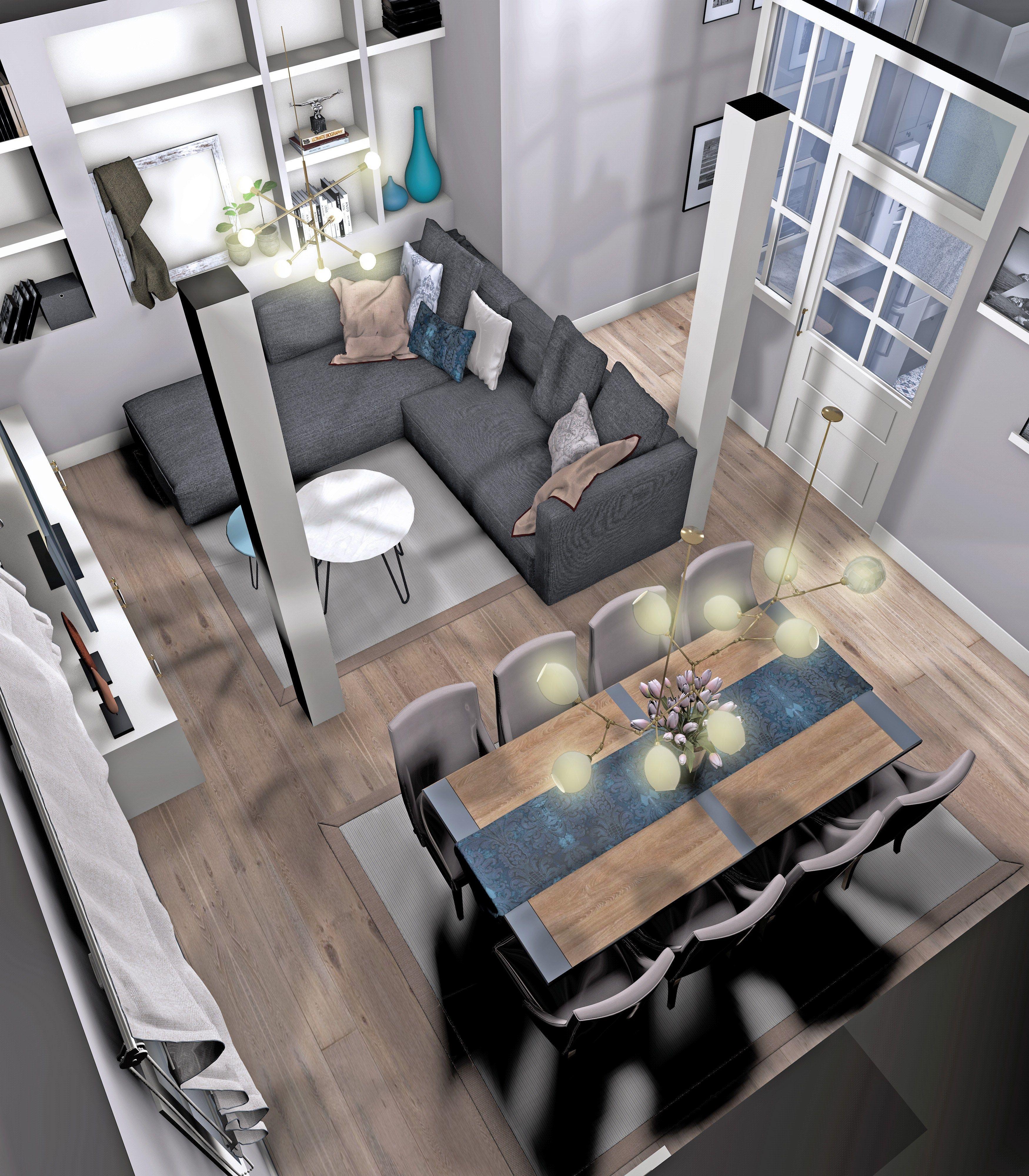 Proyecto dise o de interiores vivienda en valladolid for Decoracion de salon comedor clasico