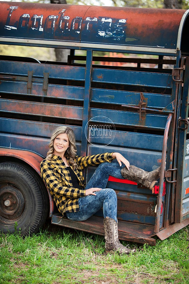 We enjoyed shooting Brittanys senior session in rural Bristow where she got to show her country side shooting on her uncles farm  RSP Senior Crew  Posing ideas for countr...