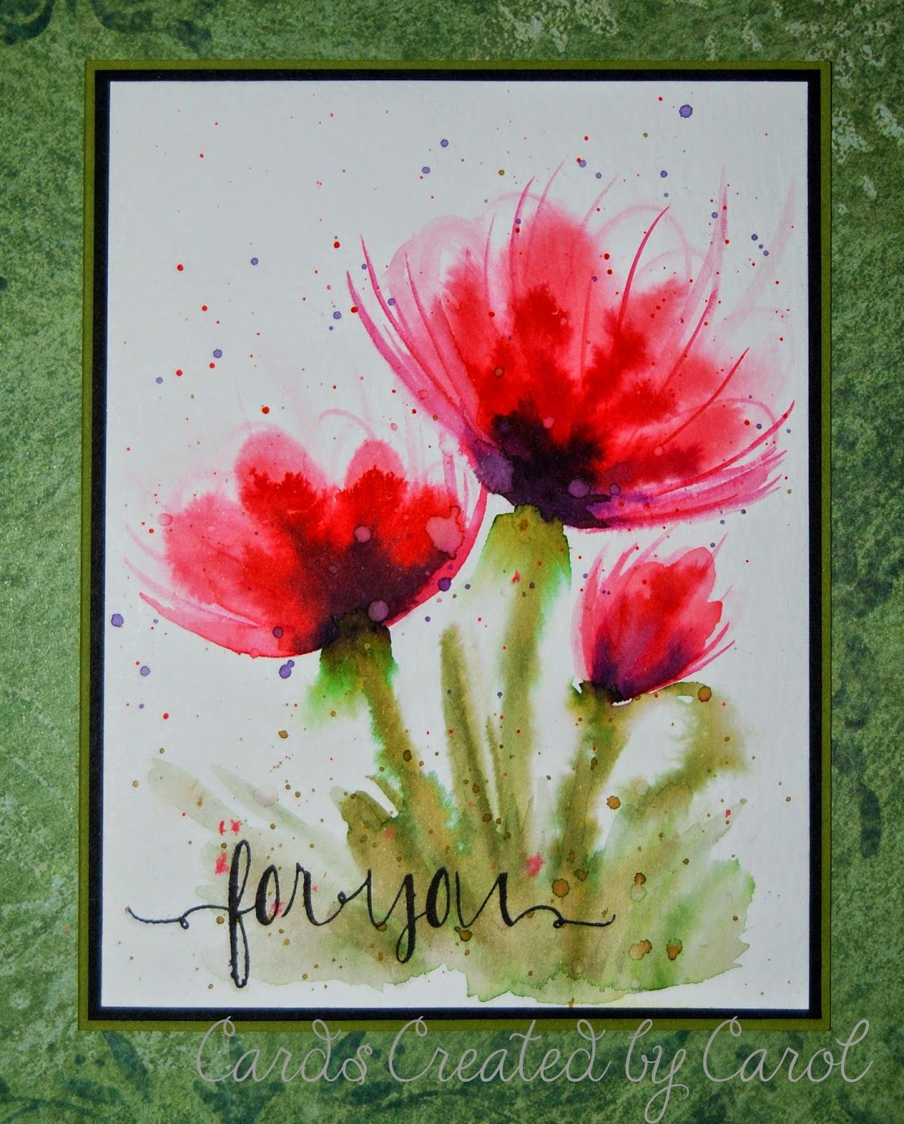 Cards Created By Carol Watercolor For Card Makers Card Maker