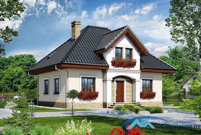 Znalezione obrazy dla zapytania proiecte case cu mansarda for Proiecte case mici cu mansarda gratis