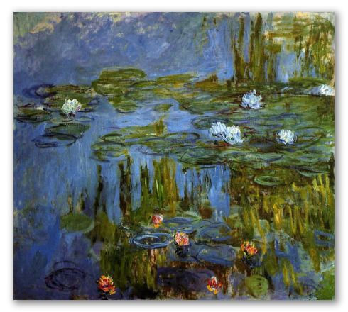 Water Lilies by Monet. Beautiful Painting! Hand-painted, oil on canvas. Makes a good gift for Art lovers and excellent painting for your home.