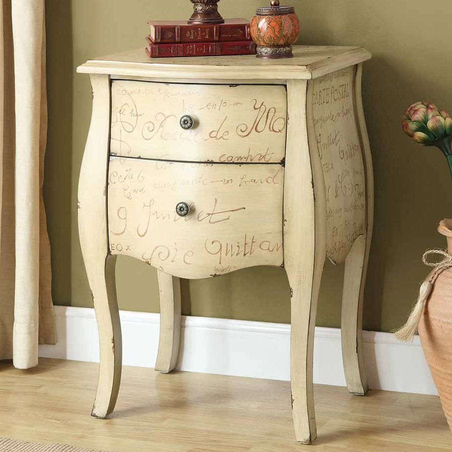 Monarch Specialties Inc I 3820 Vintage French Two Drawer Bombay