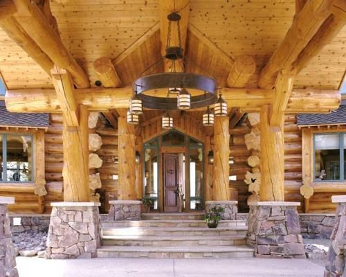 pioneer log homes timber kings williams lake b c pinterest portique escaliers et. Black Bedroom Furniture Sets. Home Design Ideas