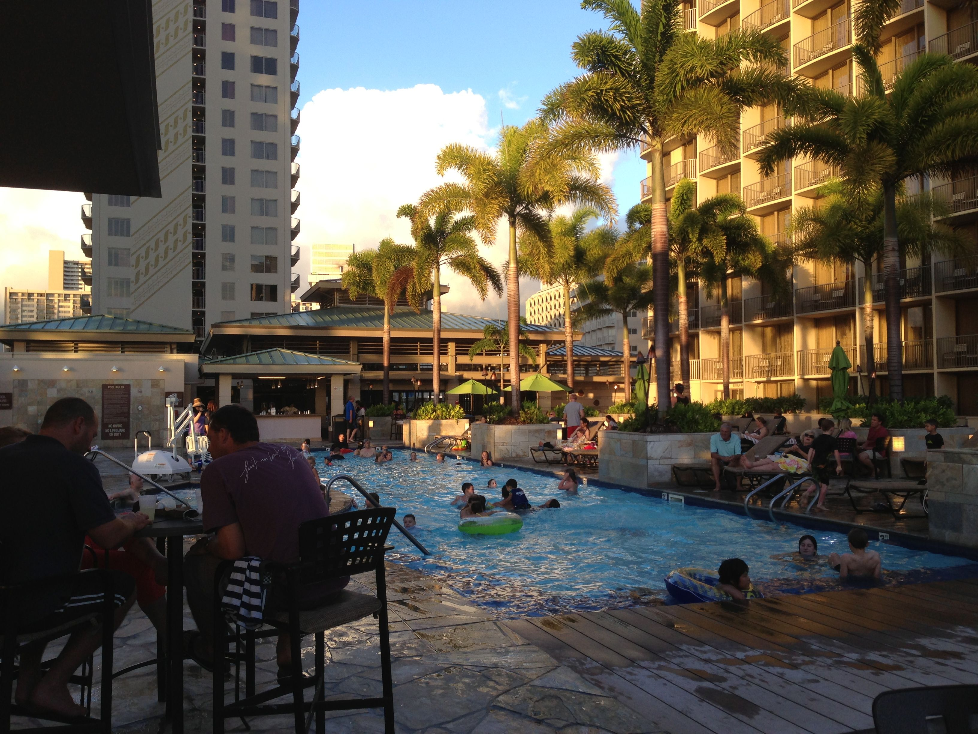 View From The Pakini Bar At The Embassy Suites Waikiki