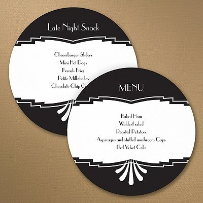 Marvelous Deco Design Circle Menu Guests will marvel at your great