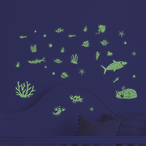 under the sea decorative peel glow in the dark ocean theme wall art