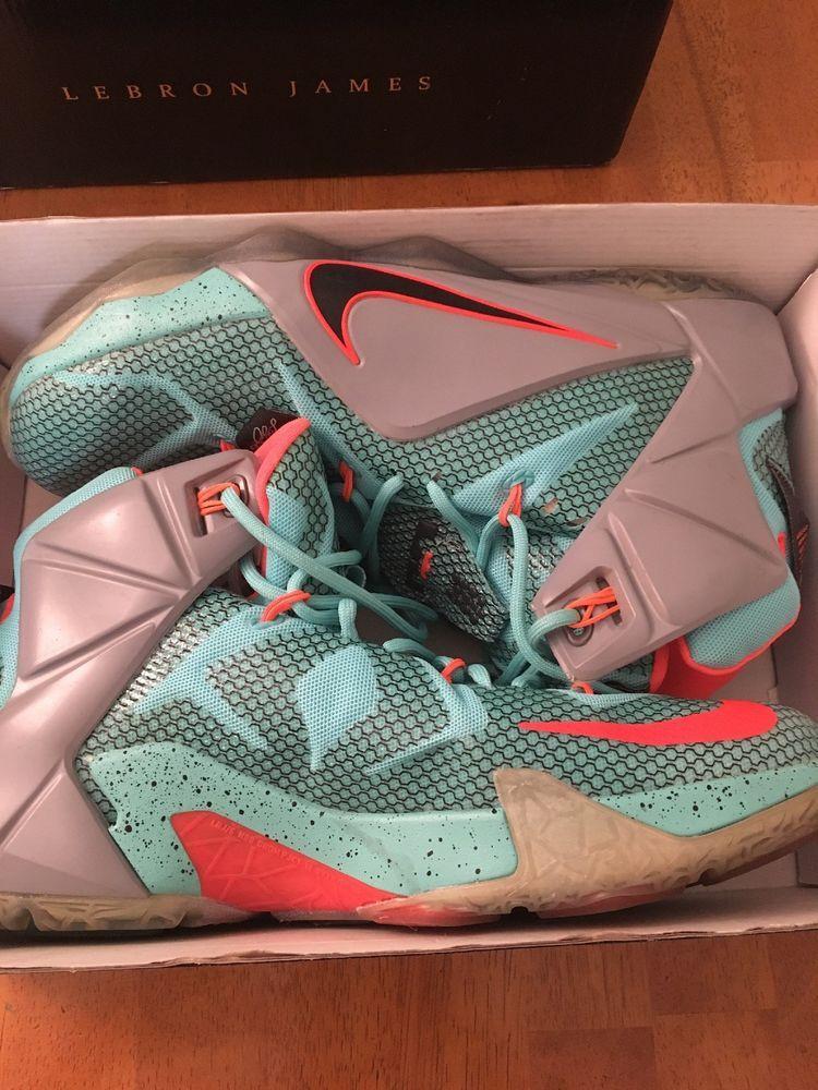 reputable site 4a10c 73eb6 Nike LeBron 12 XII EP NSRL Hyper Turquoise Grey-Orange 2014 707781-301 Rare   fashion  clothing  shoes  accessories  mensshoes  athleticshoes (ebay link)
