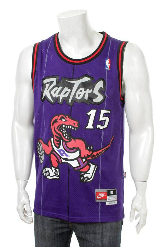 45f114f2e88 Rare Vintage Nike Vince Carter #15 Purple | Toronto Raptors NBA ...
