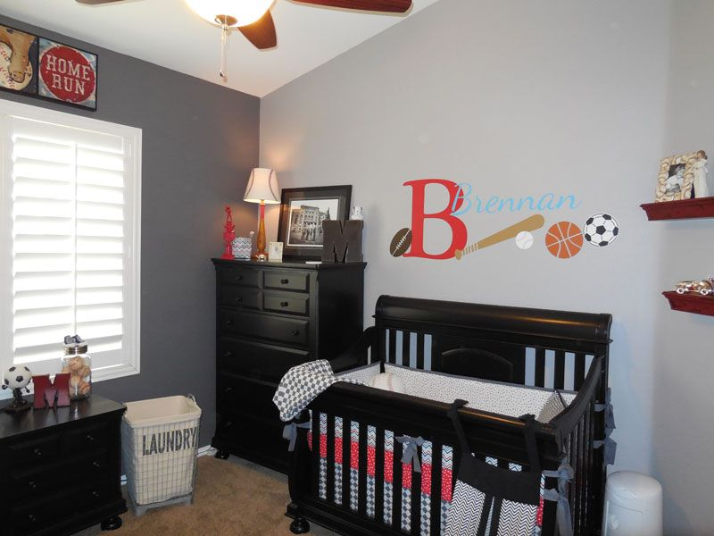 baby boy sports nursery decor | baby boy room decorating sport