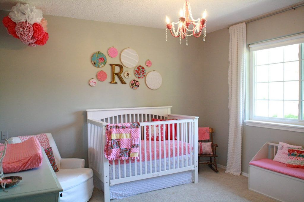 Baby Nursery Decor Simple Cute Theme Vintage Designs Interior Colors Decoration Pink Chandelier Room Daughter White Best