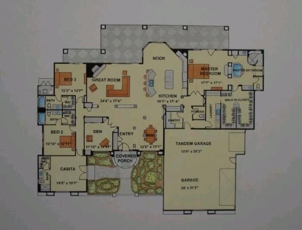 House plans with detached guest house home design for House plans with detached guest suite