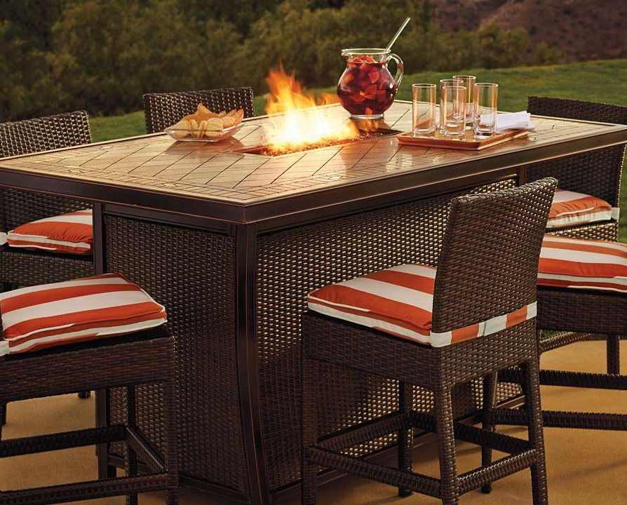 Great Palermo Counter Height Fire Table Set