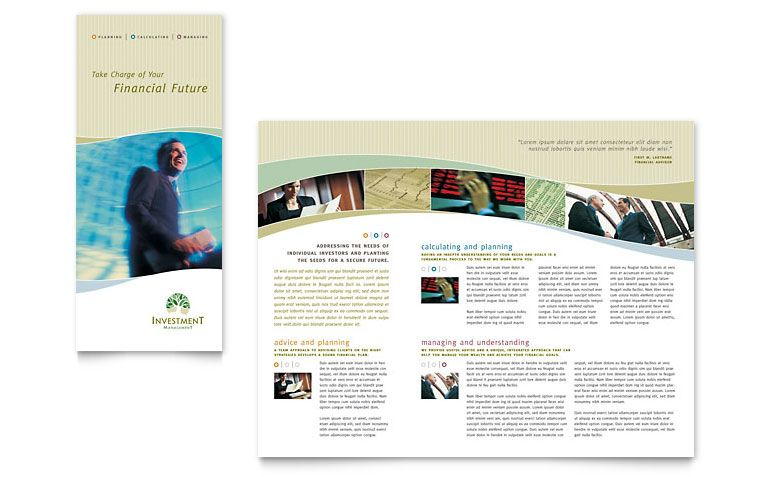 free brochure templates tri fold brochure word publisher - flyer format word