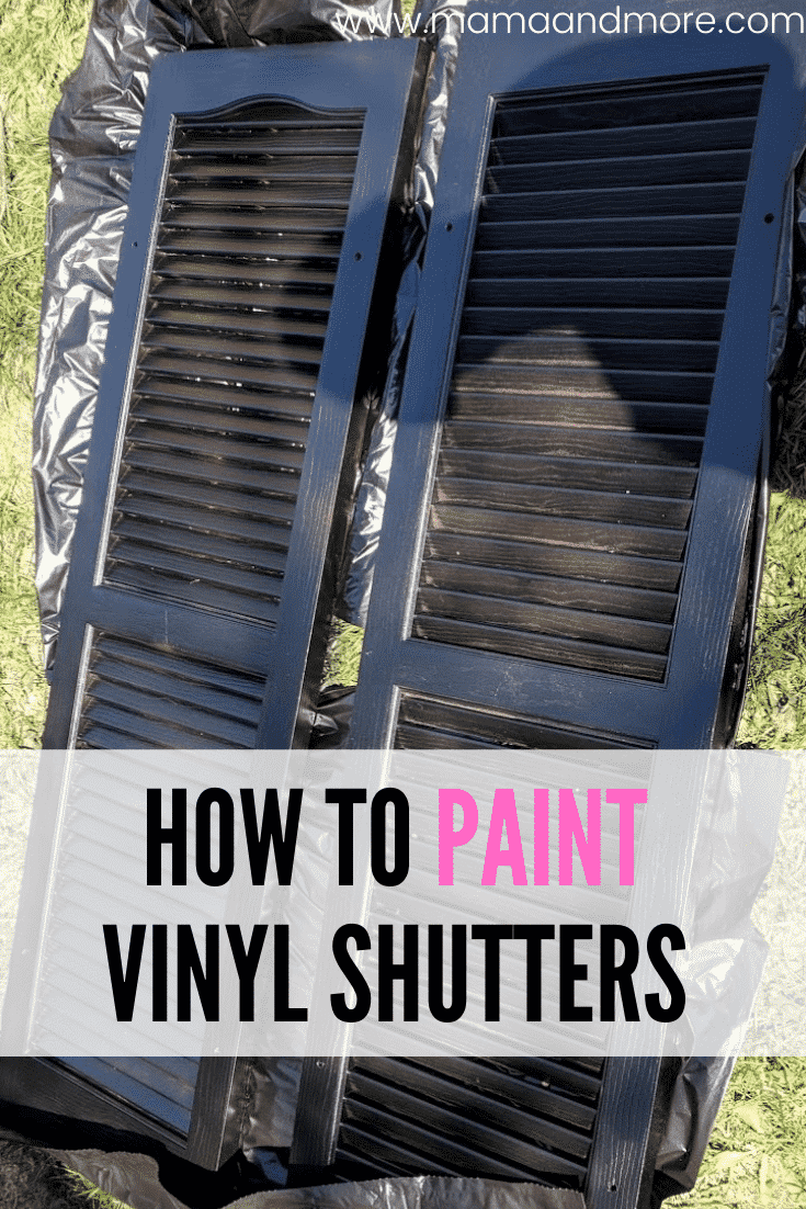 How To Paint Vinyl Shutters Mama And More In 2020 Vinyl Shutters Paint Vinyl Shutters Painting Shutters