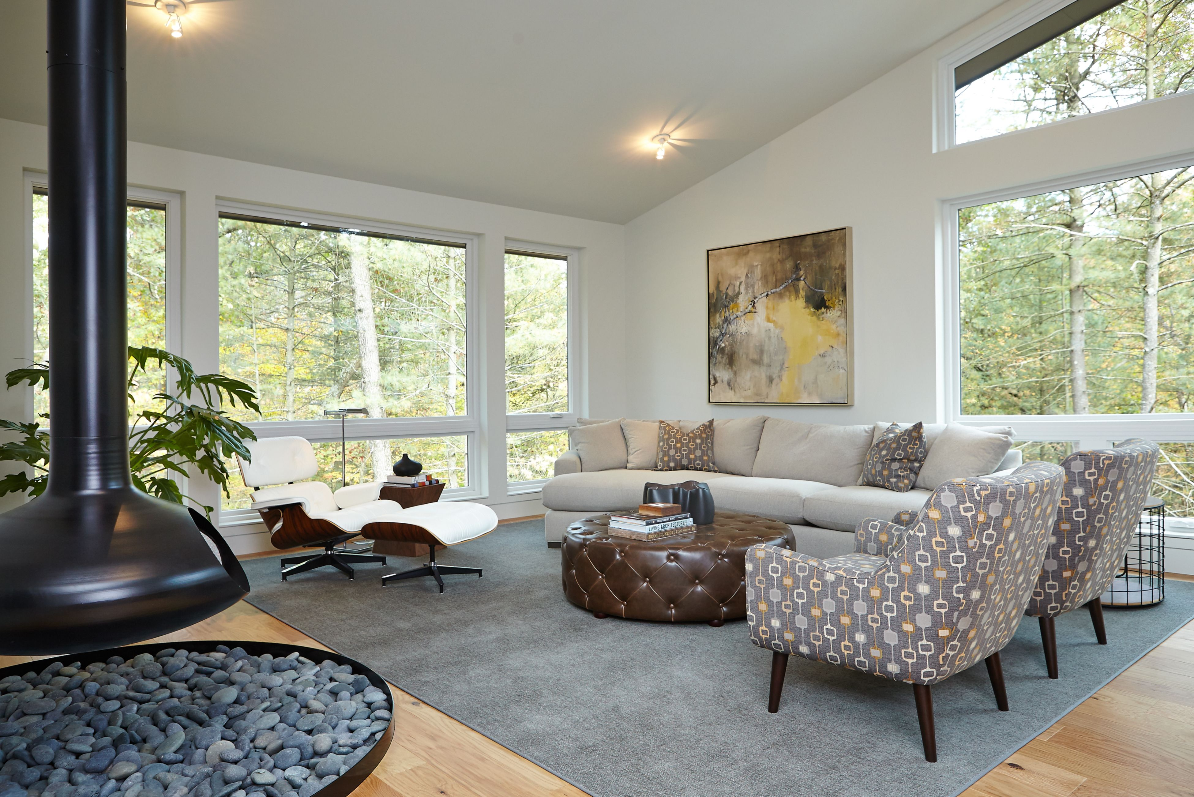Superieur 2013 Fall Parade Of Homes As Featured In Cosmopolitan Home Grand Rapids,  Photos Midcentury Living Room