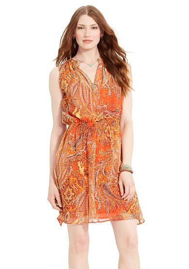 Lauren Ralph Lauren Paisley Sleeveless Dress
