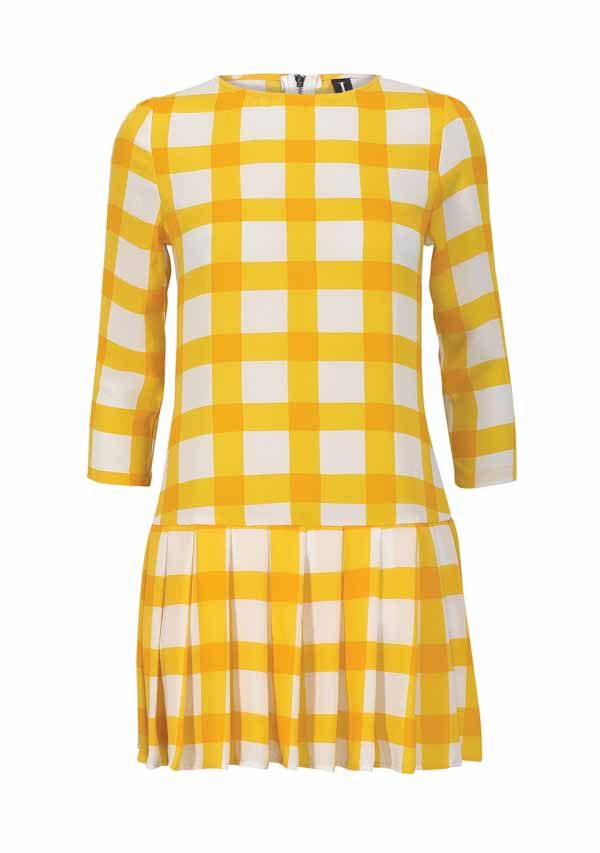 Looking forward to wearing some bright colours once the spring comes... we love this yellow check from Izabellondon.com