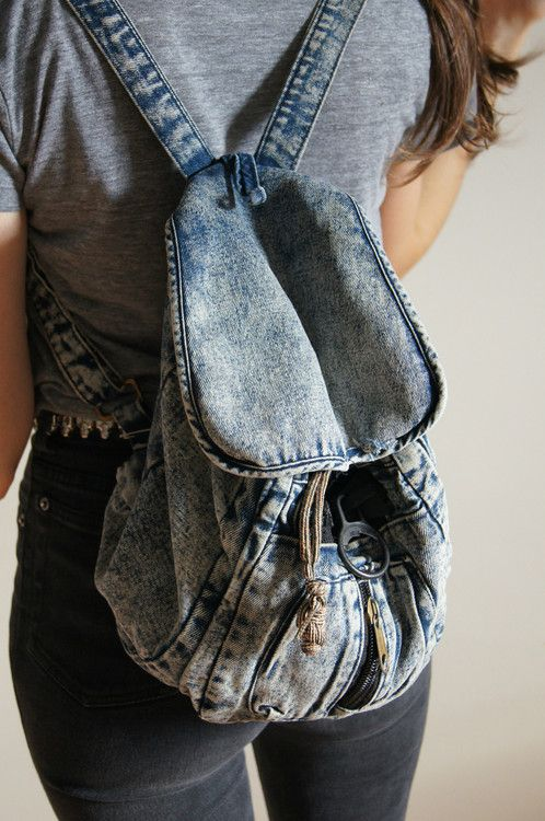 Make a rucksack out of an old pair of jeans  )  b8f902c30e831