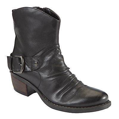 John Lewis Kansas Leather Western Style Block Heel Ankle Boots  fb6c72fbf3