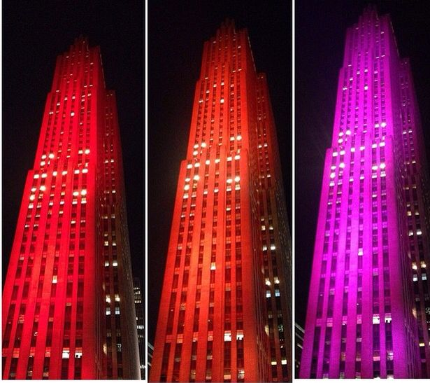 Beautiful Lighting Design Of Rockefeller Center Nyc By Ela