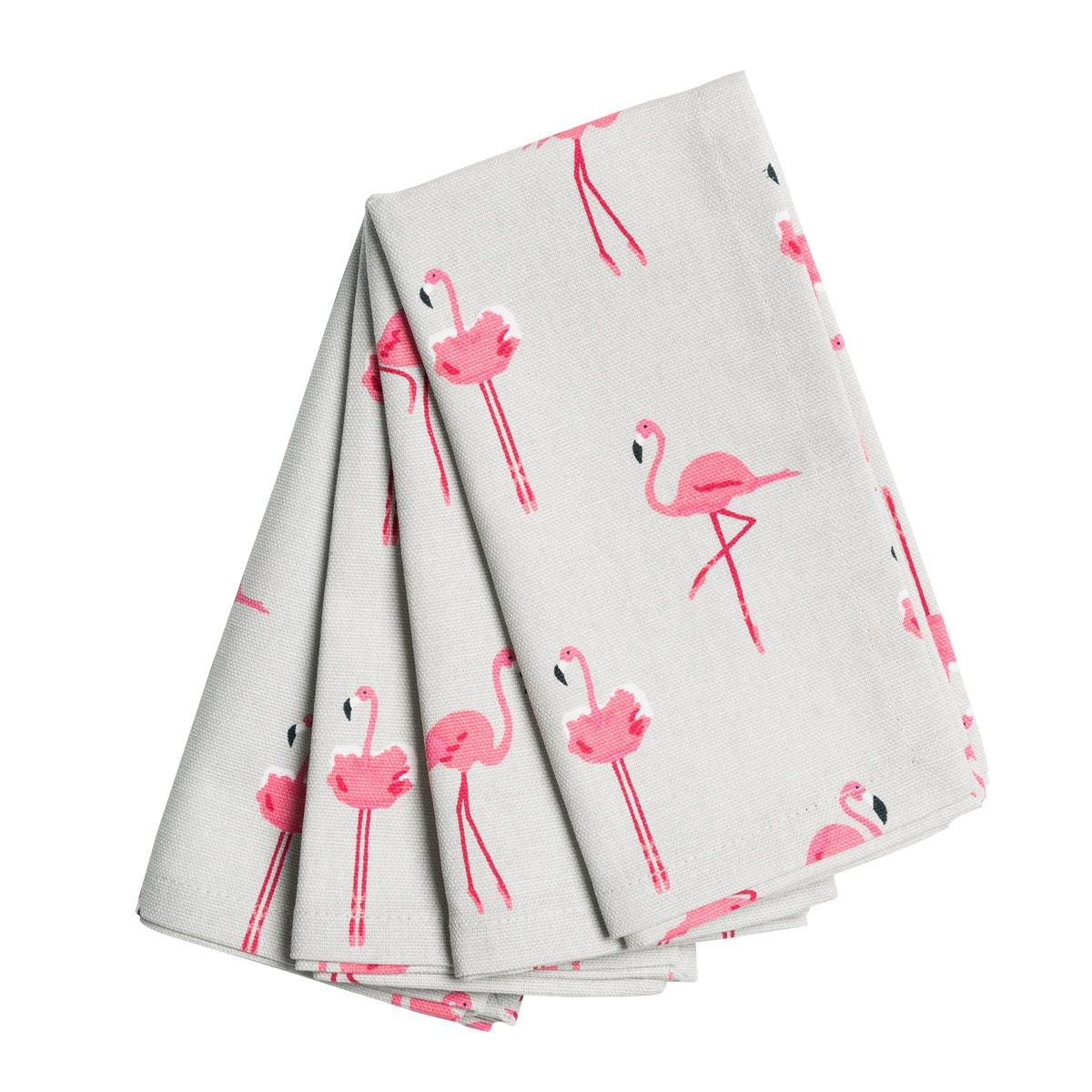 Küchentücher Flamingo A Fabulous Set Of Four Napkins Covered In Our Fun Pink Flamingos