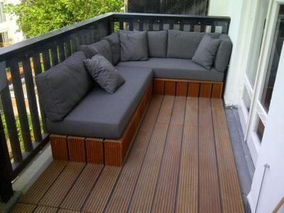 lounge bank op balkon huis ideeen pinterest dining. Black Bedroom Furniture Sets. Home Design Ideas