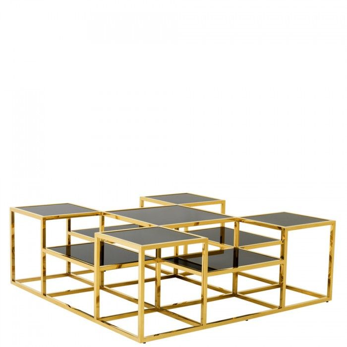 Eichholtz Table Coffee Smythson Gold Brass Coffee Table