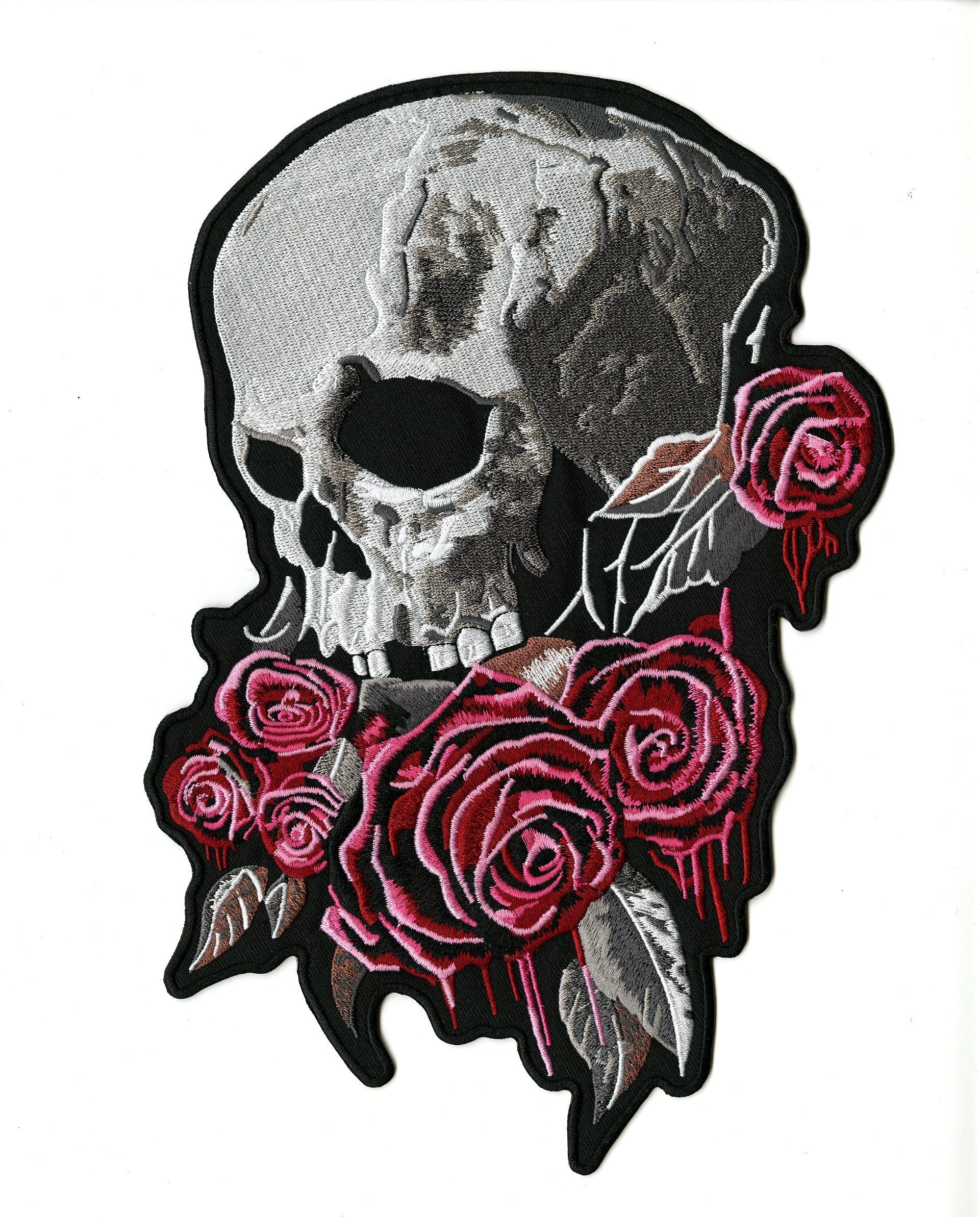 Lady Rider Pink Rose With Feather Embroidered Biker Patch FREE SHIP