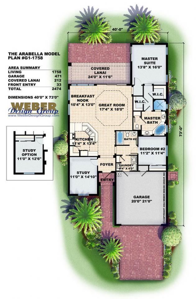 Mediterranean House Plan Narrow Lot Mediterranean Cottage Floor Plan Mediterranean Style House Plans Mediterranean House Plans Florida House Plans