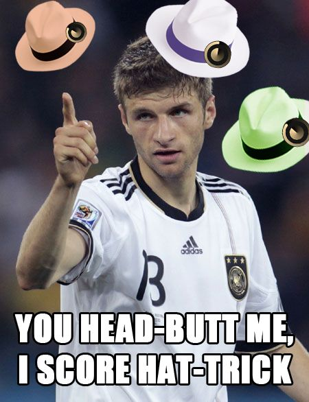 Hats Off To The Hat Trick Well Played Thomas Muller Worldcup Germany Portugal Football Soccer Thomas Muller World Cup Life