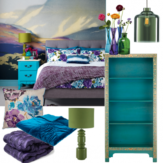 Girls Bedroom Purple And Blue rich blue and purple bedroom | moodboards | housetohome.co.uk