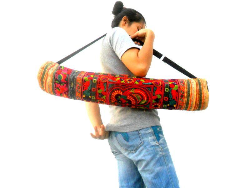 Yoga Mat Bag yoga sling bag Yoga Bag Sports Bags Pilates Mat Bag Women bag Yoga Embroidery Bag Multi Color Yoga Bag Gift Bag Handmade bag