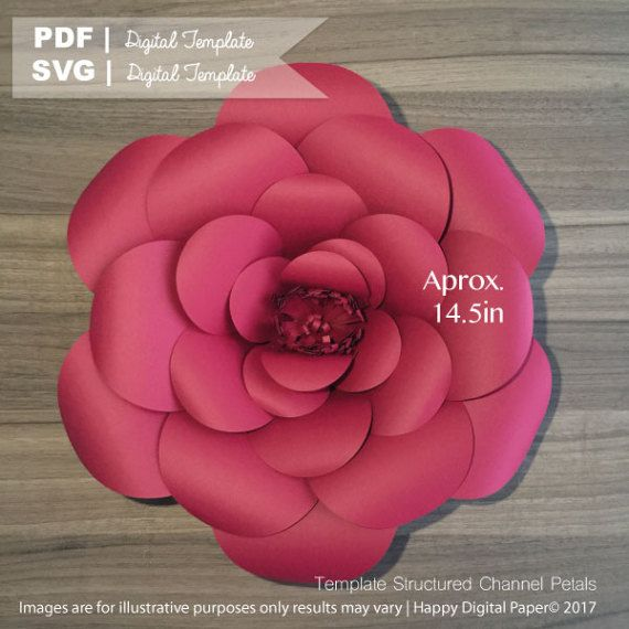 Diy Giant Paper Flower Digital Template Pdf And Svg 1 We Are Open